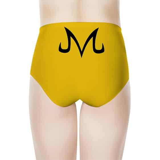 Majin Logo Dragon Ball Z Cool Yellow Women's High-Waist Brief