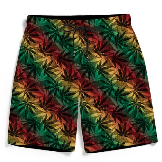 Marijuana 420 Weed Reggae Colors Fantastic Men's Boardshorts