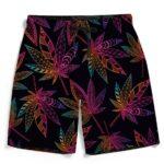 Marijuana Leaf Trippy Colors All Over Print Cool Men's Shorts