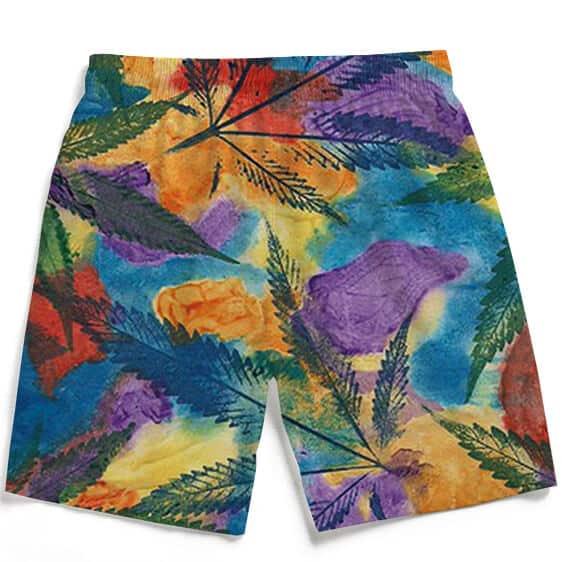 Marijuana Leaf Water Coloured Inspired Men's Boardshorts