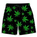 Marijuana Leaves Bright Neon Green Black Amazing Boardshorts