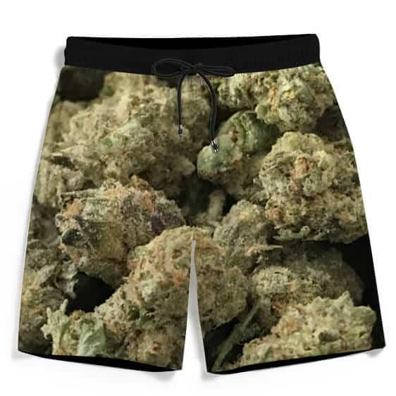 Marijuana Top Shelf Nugs 420 Stay High Dope Men's Boardshorts