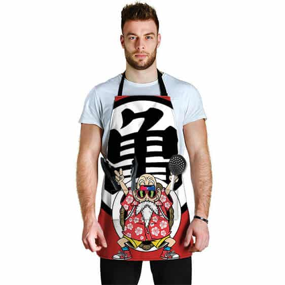 Master Roshi Peace Sign Dragon Ball Z Cool and Awesome Apron
