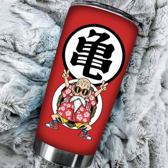 Master Roshi Peace Sign Kanji Dragon Ball Z Awesome Tumbler