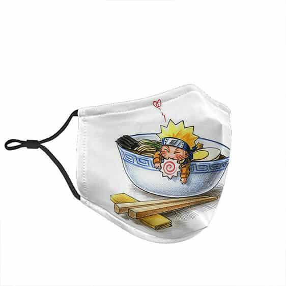 Miniature Naruto Inside a Ramen Bowl Cloth Face Mask