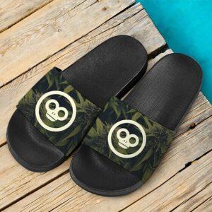 Monkey 420 Marijuana Hemp Logo Green Dope Slide Footwear