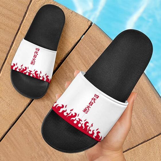 Namikaze Minato Yondaime Hokage Cape Design Slide Slippers