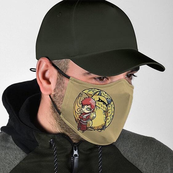 Naruto Chibi Gaara And Shukaku One-Tail Beast Face Mask