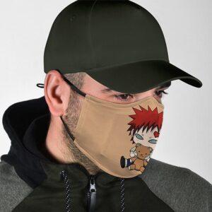Adorable Chibi Gaara with Teddy Bear Cute Naruto Face Mask