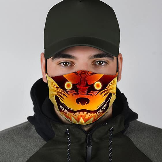 Naruto Fierce Powered Up Kurama Cool and Powerful Face Mask