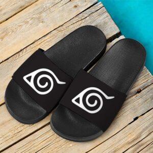 Naruto Hidden Leaf Village Logo Amazing Slide Footwear
