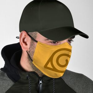 Naruto Hidden Leaf Village Symbol Cool and Awesome Face Mask