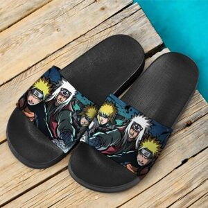 Naruto Jiraiya Minato Rasengan Users Artwork Slide Footwear