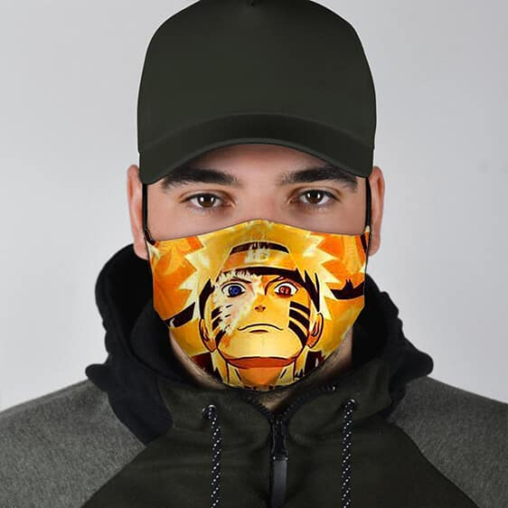 Naruto Kurama Chakra Mode Awesome Cool Powerful Face Mask