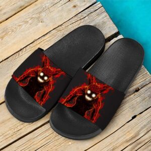 Naruto Kyuubi 4 Tails Mode Awesome Black Slide Sandals