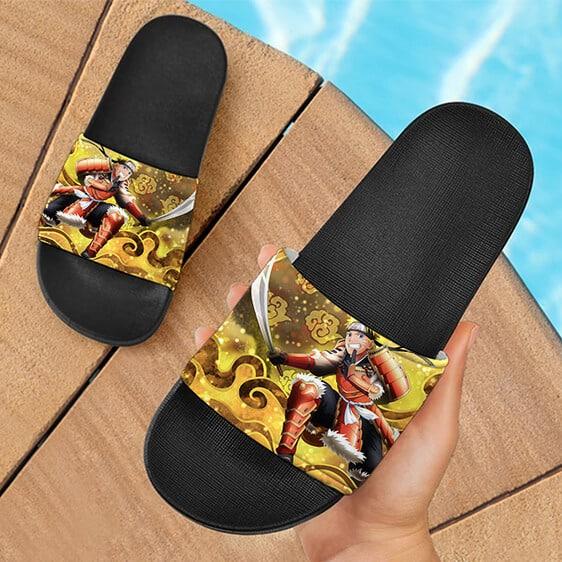 Naruto Samurai Costume Ninja Voltage Design Slide Sandals