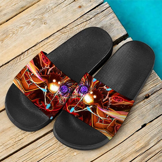Naruto Six Tails Form Energizing Artwork Slide Slippers