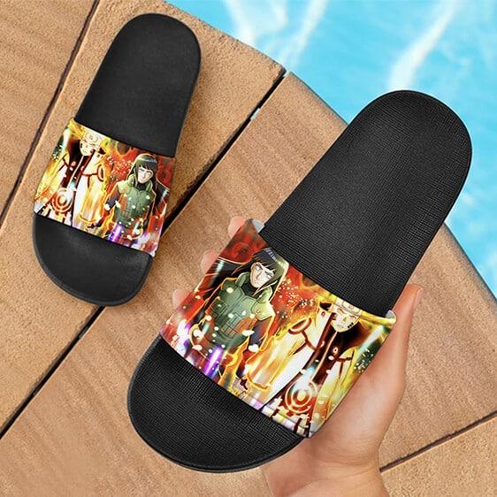 Naruto Tailed Beast Mode and Hinata Powerful Slide Slippers
