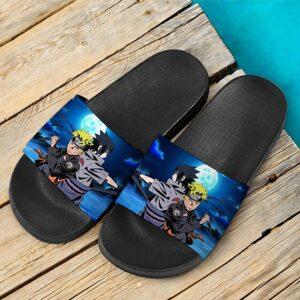 Naruto Ultimate Ninja Blazing Sasuke Uchiha Cool Slide Footwear