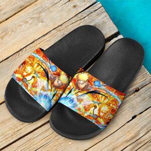 Naruto Uzumaki Chakra Mode Explosive Yellow Cool Slide Footwear