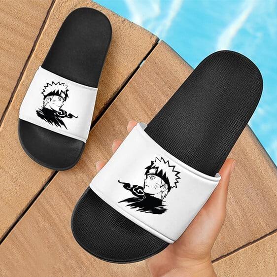 Naruto Uzumaki Inked Art Spectacular White Slide Footwear