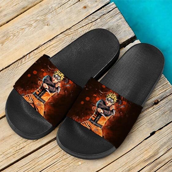Naruto Uzumaki Nine Tails Jinchuriki Awesome Slide Footwear