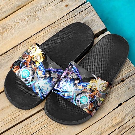 Naruto Vs Sasuke Young Teen & Adult Astonishing Slide Sandals