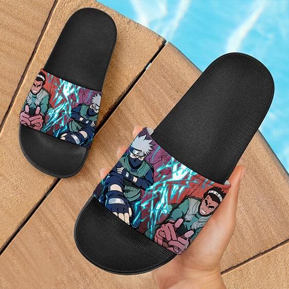 Ninja Tribes Kakashi Hatake And Might Guy Slide Sandals