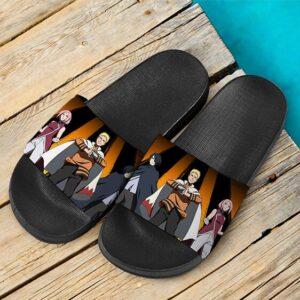 Old Team 7 Sasuke Naruto Sakura Next Generations Slide Slippers