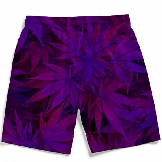 Purple Haze Trippy Marijuana Hemp 420 Awesome Men Boardshorts