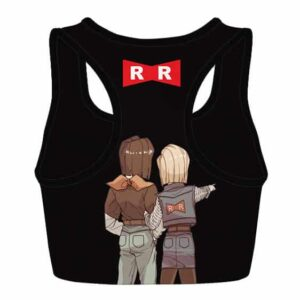 Red Ribbon Army Android 17 and 18 DBZ Powerful Sports Bra