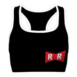 Red Ribbon Army Dragon Ball Black Cool Awesome Sports Bra