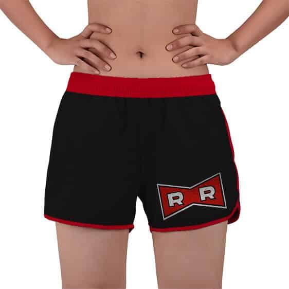 Red Ribbon Army Logo Costume DBZ Women's Beach Shorts
