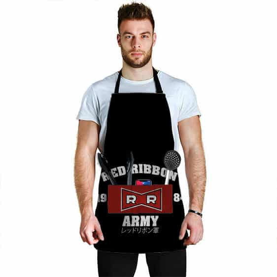 Red Ribbon Army Logo Dragon Ball Z Cool and Awesome Apron