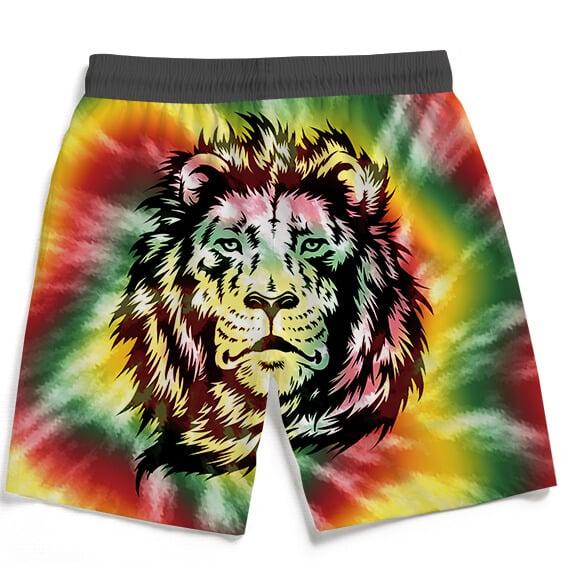 Reggae Inspired Tie Dye For The Stoners Dope Boardshorts