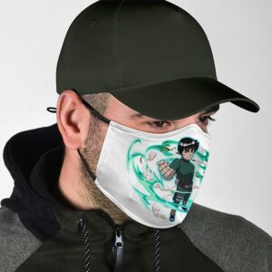 Rock Lee Strong Fist Leaf Rising Wind Amazing Naruto Face Mask