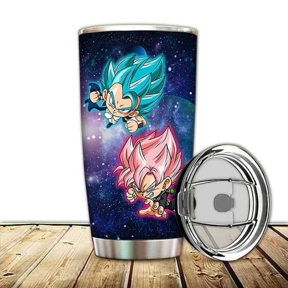 SSJ Blue Gogeta and SSJ Rose Black Goku DBZ Awesome Tumbler
