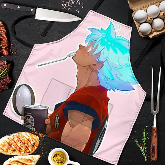 SSJ Blue Son Goku Eating Ice Cream Dragon Ball Z Cool Apron
