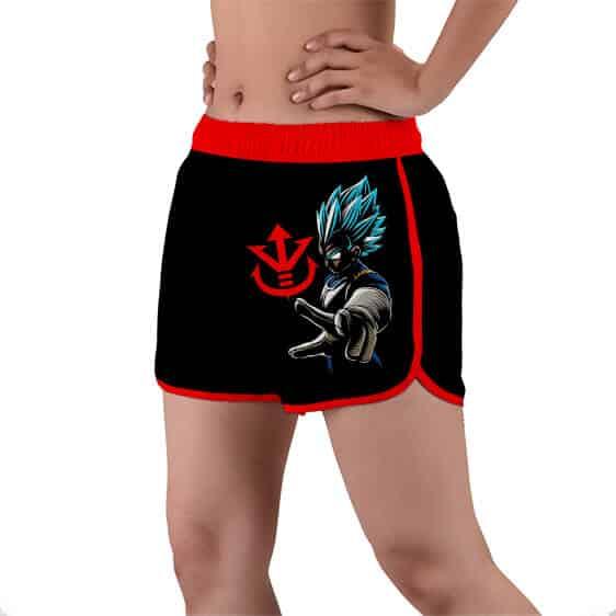 SSJ Blue Vegeta Royal Crest Saiyan Logo Women's Swim Shorts