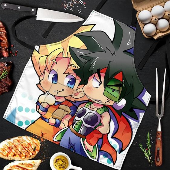 SSJ Son Goku with Bardock Dragon Ball Z Cool Powerful Apron