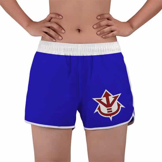 Saiyan Royal Crest Vegeta Logo Dragon Ball Women's Beach Shorts
