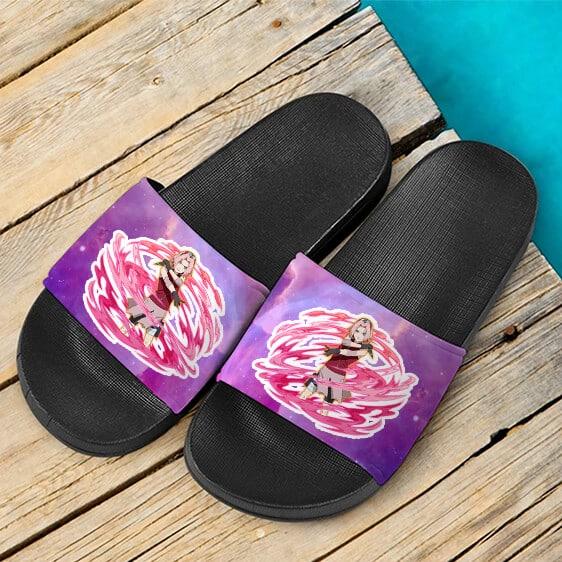 Sakura Haruno Ultimate Ninja Blazing Card Artwork Slide Footwear