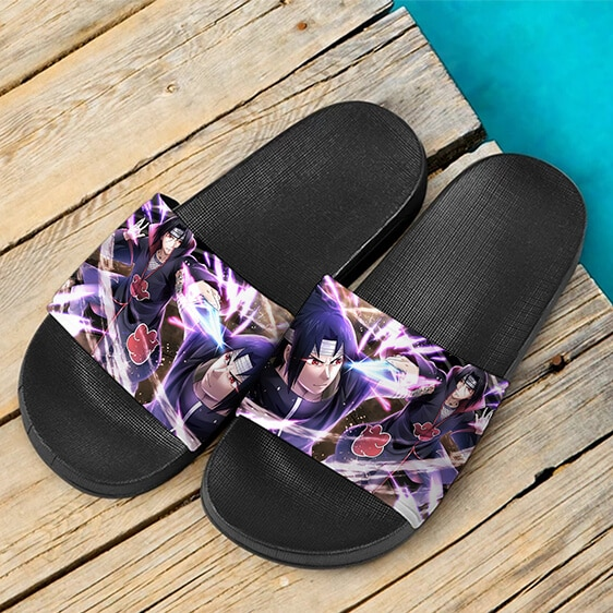 Sasuke Itachi Uchiha Brothers Of Destruction Slide Footwear