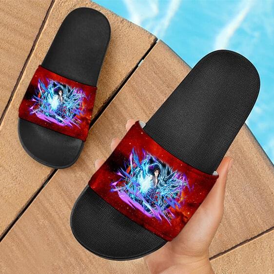 Sasuke Kirin Lightning Release Technique Cool Slide Slippers