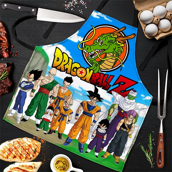 Shenron and the Z Fighters Dragon Ball Z Cool Powerful Apron