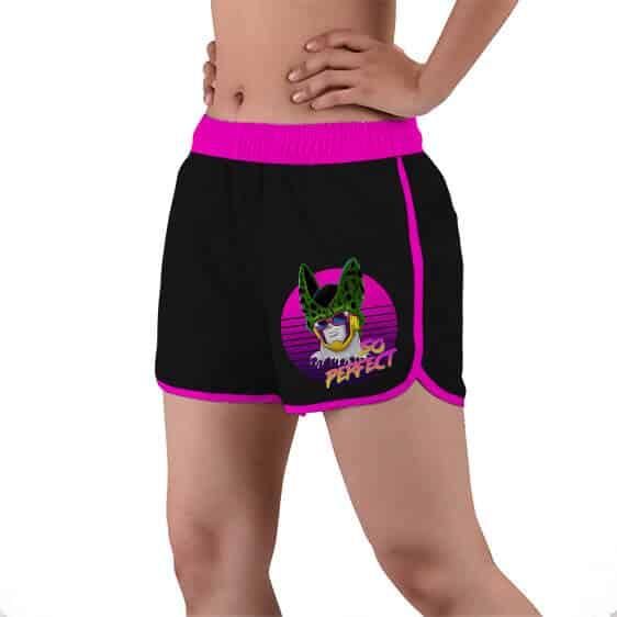 So Perfect Cell Dope Dragon Ball Z Black Women's Swim Shorts
