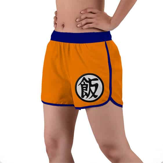 Son Gohan Kanji Symbol Dragon Ball Z Women's Beach Shorts