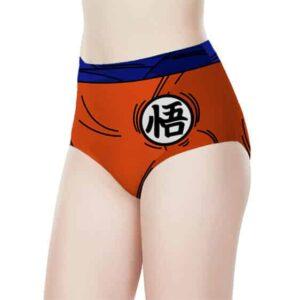 Son Goku Cosplay Dragon Ball Z Women's High-Waist Underwear