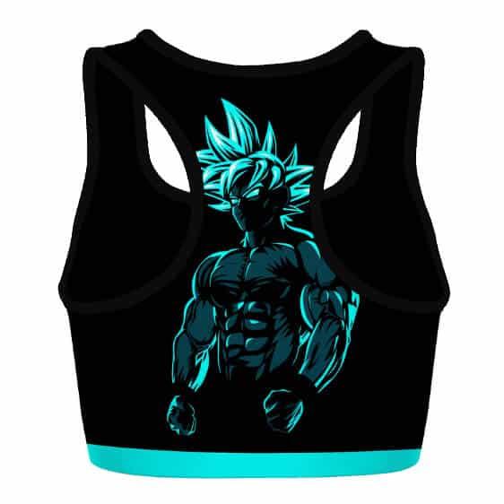 Son Goku Dragon Ball Z Blue Black Cool Powerful Sports Bra