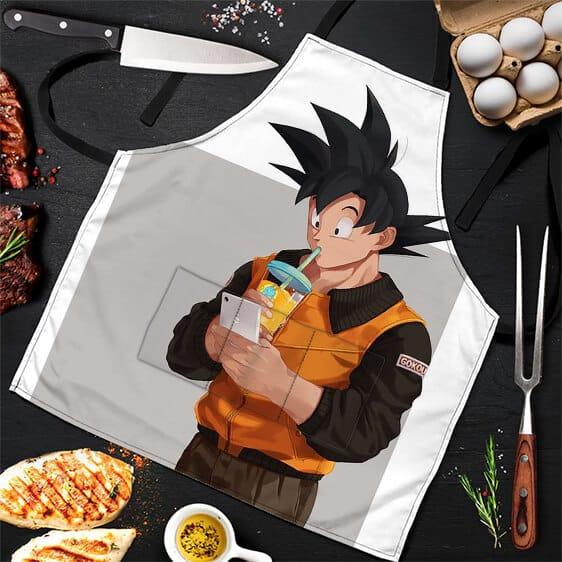 Son Goku Drinking Shake Dragon Ball Z Cool and Awesome Apron